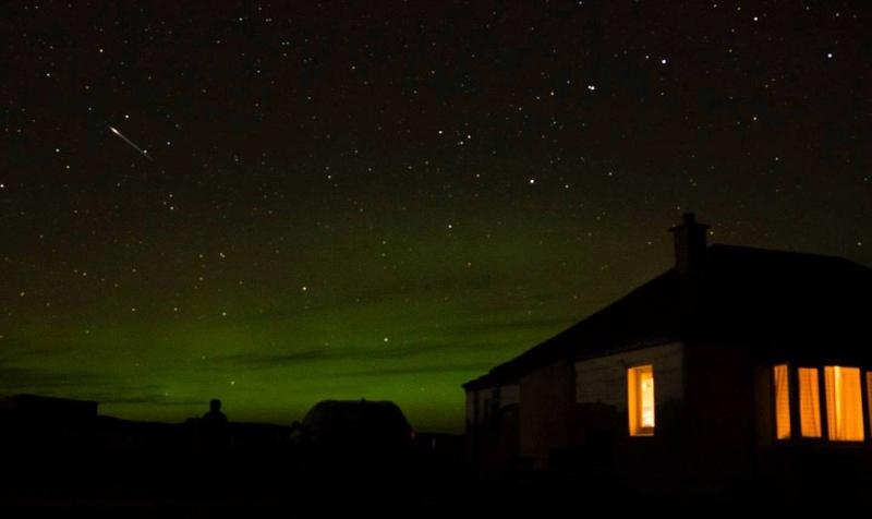 aurora (northern lights) seen from Clachtoll