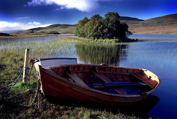 fishing boat on Loch Awe, Assynt